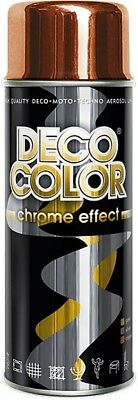 DECO COLOR PACK OF: COPPER CHROME EFFECT METALLIC MIRROR SPRAY PAINT 400ml ART