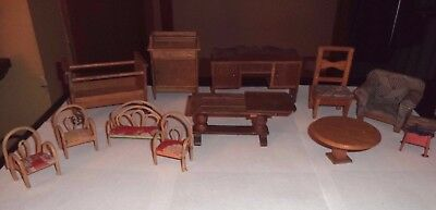Antique Vintage Wood Dollhouse Furniture Mixed Lot in GUC