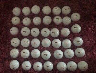 40 PD Colour Tick NIKE GOLF BALLS MINT AND PEARL