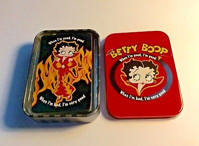 Betty Boop Devil Playing Cards In Collectible Tin