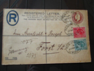 Registered Letter envelope March 1904