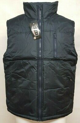 679c65aa2b92 Men s Quilted Padded Gilet Body Warmer Reversible Fleece Lined Sleeveless  S 2XL