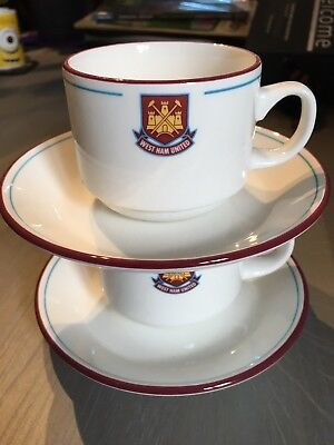 West Ham Cup And Saucer X 2