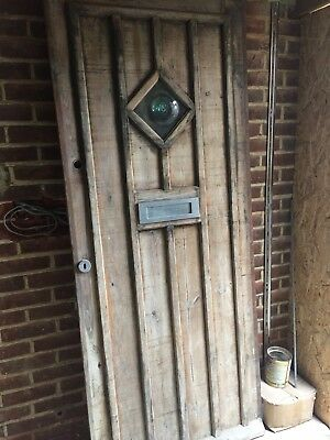 Reclaimed Oak External Hardwood Wooden Front Door Croft / Cottage / Vintage