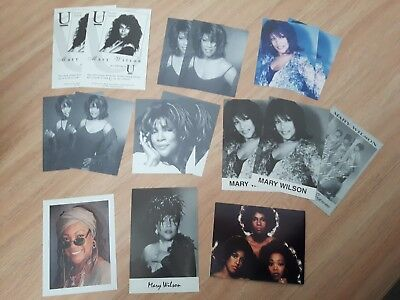 Mary Wilson The Supremes promotional postcards