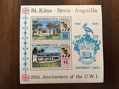 St. Kitts - Nevis - Anguilla 25th Anniversary of the U.W.I Postage Stamp 74' MNH