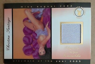 Christina Santiago 2003 Playmate of the Year Swatch Card