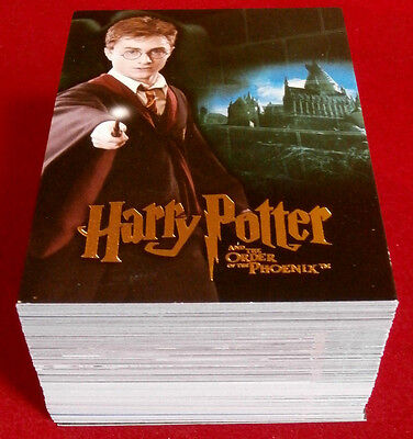 HARRY POTTER - ORDER OF THE PHOENIX - COMPLETE BASE SET of 90 cards ARTBOX 2007