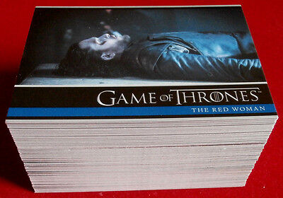 GAME OF THRONES - Season 6 - Complete Base Set (100 cards) - Rittenhouse; 2017