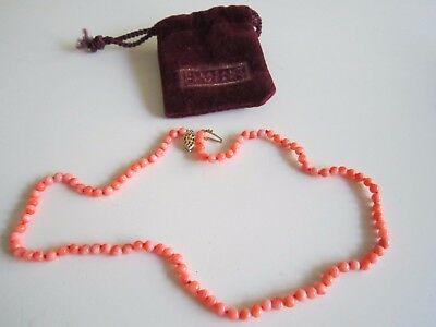 """American Girl DRESS LIKE YOUR DOLL - Felicity - 16"""" Coral Necklace NIP Child HTF"""