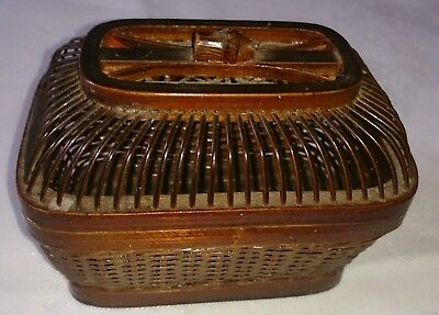 Vintage Chinese bamboo wood cricket box cage hand made in wonderful condition