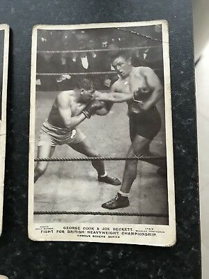 Very Rare Boxing Postcards