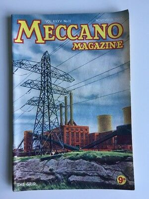 MECCANO Magazine November 1950 'The Grid' Cover Dinky Toys & Hornby Adverts