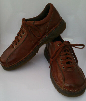 3785c5f1cd8b Doc Dr Marten Perry Oxford Brown Leather Bicycle Toe Mens 12 Lace Up Shoes