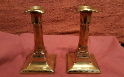Pair of Late 18th /Early 19th Century Brass Candlesticks  Marked Harrison