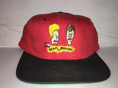 Vtg Beavis and Butthead Snapback MTV hat cap rare 90s nwot cartoon deadstock f3d10bfc74d