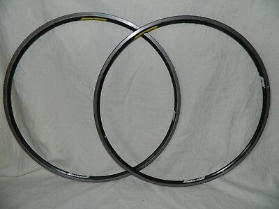 Campagnolo Omega Tubular Rims, Pair, 28 spoke holes.