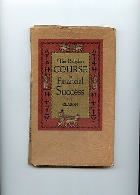The Babylon course in Financial Success 1938  three booklets
