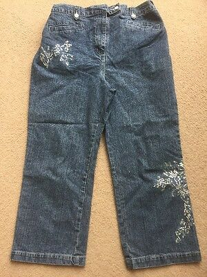 Next Maternity Size 14 Ladies Jeans With Embellishments Denim