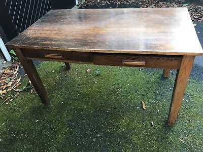 Oak Library Table/Desk: Up-cycle, Refurb, Paint Farrow & Ball: collect Wakefield