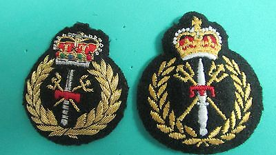 Canadian Army Combat Diver Padded Cap Badges - Bullion Wire & Colour