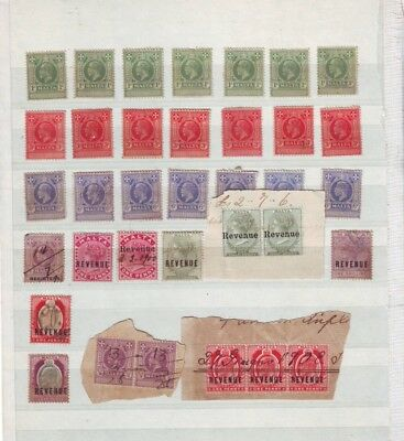 Small collection of 35 Malta Revenue stamps