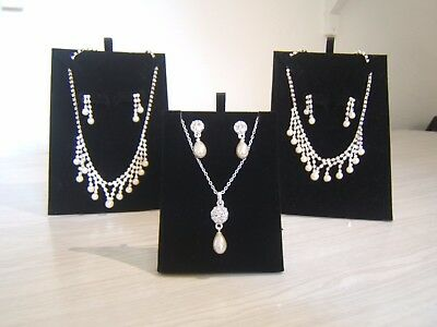 Three Boxed Jon Richard Earrings And Necklace Jewellery Sets Wedding Accessories