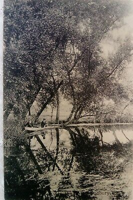 postcard Sudbury Suffolk on the stour c1910