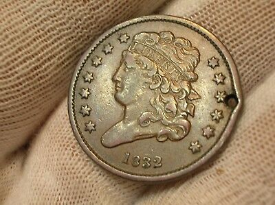 1832 Classic Head Half Cent Holed