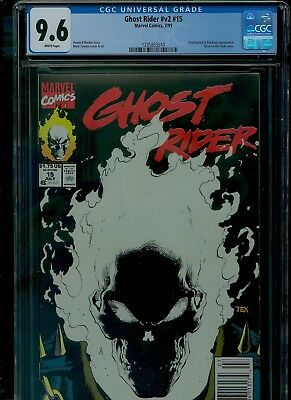 Ghost Rider 15 CGC 9.6 NM+ Glow-in-the-dark Mark Texeira cover Marvel 1990