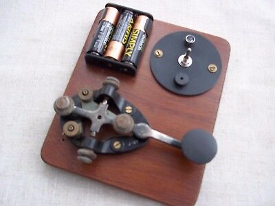 Morse Code/ Telegraph Key J37..  with.sound/light  Practice option......