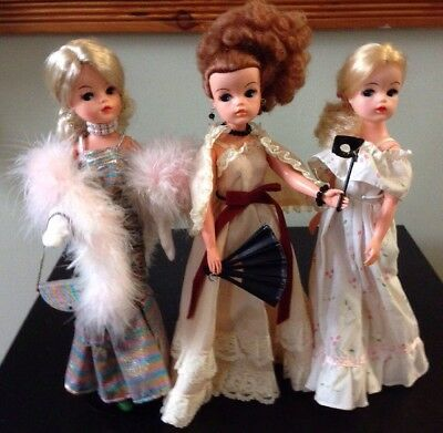 Sindy Premiere 1985 Masquerade First Romance LOT of 3 Dolls PLUS SINDY BOXES