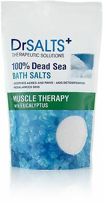 Dr Salts Muscle Therapy 100% Dead Sea Bath Salts Solutions With Eucalyptus 1kg!!