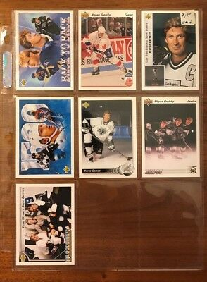 7 Card Lot Wayne Gretzky Hockey Cards LA Kings Team Canada Bloodlines Upper Deck