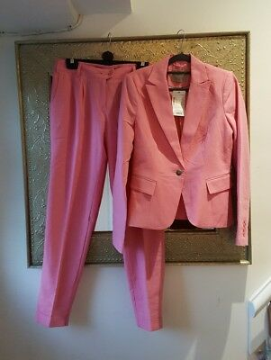 Ladies pink trouser suit Size 36 8/10 New with tags