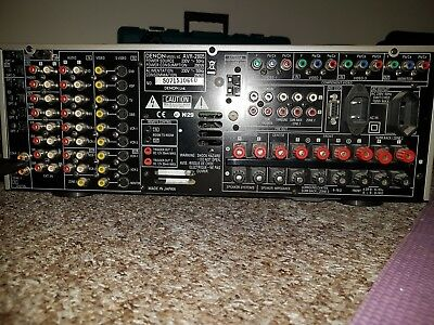 DENON AVR-2805 AV RECEIVER, 7 1 CHANNEL SURROUND AMPLIFIER - Collection only