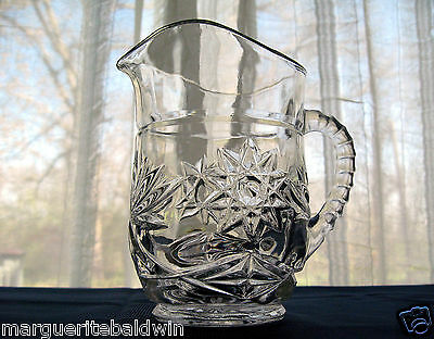 Anchor Hocking Glass Early American Prescut Pitcher