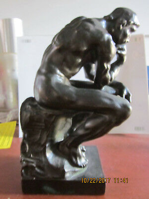 "Antique Pompeian Bronze statue ""The Thinker"" Gorgeous- Estate Item."
