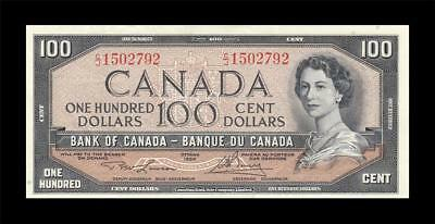 1954 BANK OF CANADA QEII $100 **Lawson & Bouey** (( GEM UNC ))