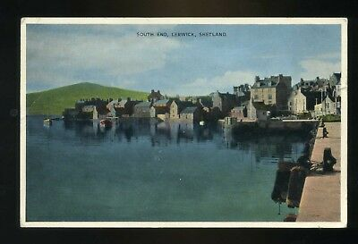 LERWICK / SHETLAND  South Side with houses and harbour   coloured
