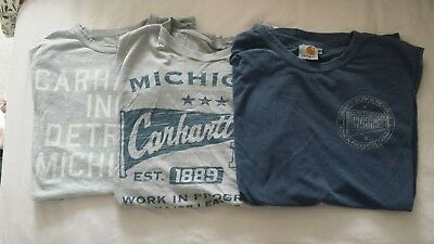 Carhartt t shirts x3 small. mix job lot. mens