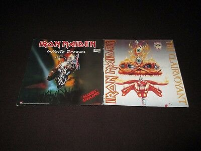 """Iron Maiden - The Clairvoyant/infinite Dreams - Double 12"""" -1990 - 1St Ten Years"""