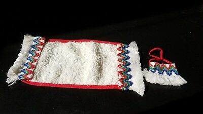 """Vintage 1957 Betsy McCall Doll Ensemble """"Sun & Sand"""" towel & tote Excellent!"""