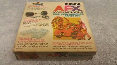 Vintage 1971 Aurora AFX Model Motoring High Performance Parts Kit *Mint Boxed*