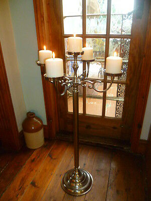 "Large 35"" 90cm Wedding Table FLOOR Table Pillar Candle Flower Silver Candelabra"
