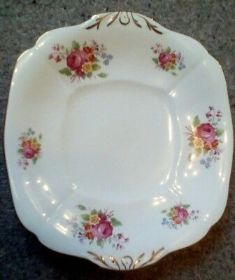 Pretty Vintage Adderley China Cake or Sandwich Plate Pink Rose