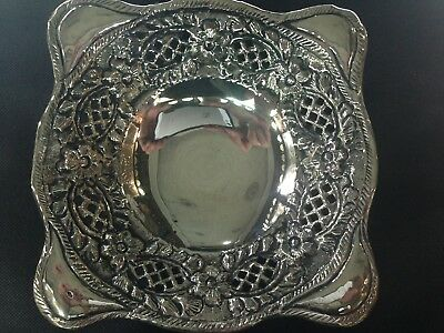 Handmade Fine Silver Hammered Silver Plate s990 (100 gm)