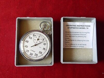 Old Wind Up Stopwatch 16 Jewels Working Stop Watch Pocket Watch Style