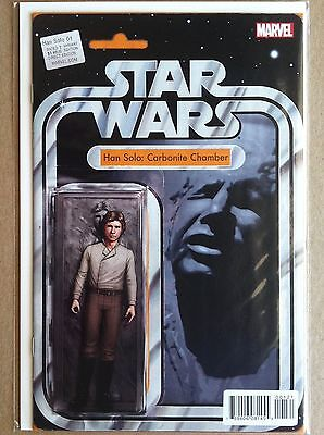 """Star Wars Han Solo #1 """"carbonite Chamber"""" Action Figure Variant Cover Nm 1St Ptg"""