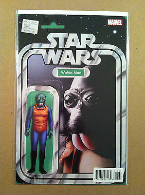 """Star Wars (2015) #17 """"walrus Man"""" Action Figure Variant Cover Nm 1St Printing"""